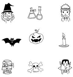 Halloween doodle vector image