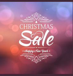 happy new year and christmas sale poster vector image