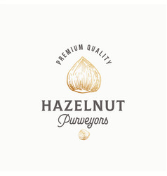 hazelnut purveyors abstract sign symbol or vector image