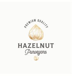 hazelnut purveyors abstract sign symbol vector image