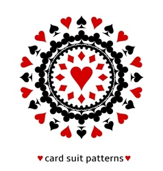 Heart card suit snowflake vector