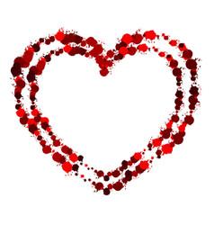 heart grunge3 00 vector image