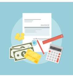 invoice vector image vector image