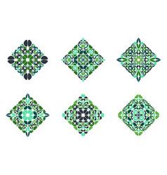 Isolated ornate geometrical petal square symbol vector