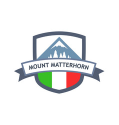 Italian mount matterhorn vector