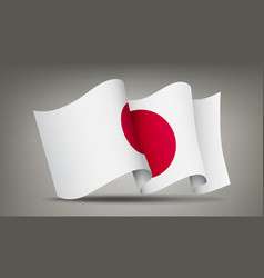 japan waving flag icon isolated official symbol vector image
