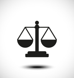 Law balance symbol justice scales icon vector image