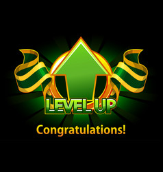 level up icon game screen vector image