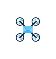 mail drone logo icon design vector image