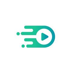 media play logo simple modern concept vector image