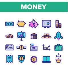 money savings banking linear vector image