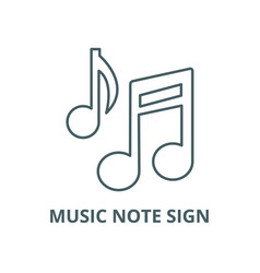 music note sign line icon linear concept vector image