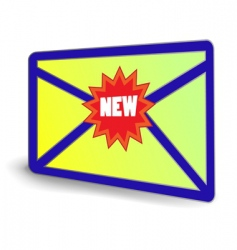 NEW email icon vector image