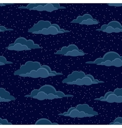 Night Sky with Clouds Seamless vector