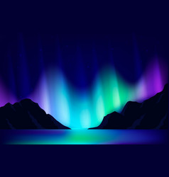 Northern lights background vector