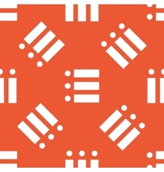 Orange dotted list pattern vector