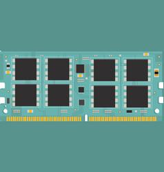 Personal computer memory module ram vector