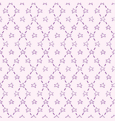 purple seamless pattern with stars vector image