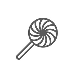 rattle lollipop candy line icon vector image