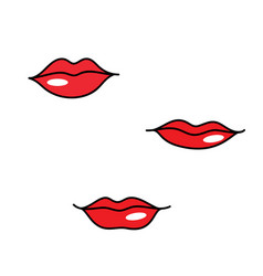 red woman lips different shapes vector image