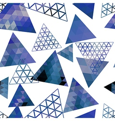 Retro pattern of geometric shapes triangles vector image