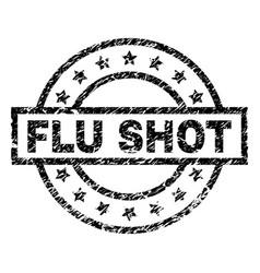 scratched textured flu shot stamp seal vector image