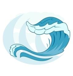 Sea wave symbol 2 vector