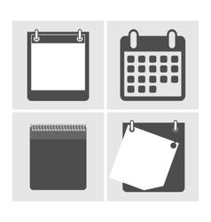 Set the calendar icon vector image