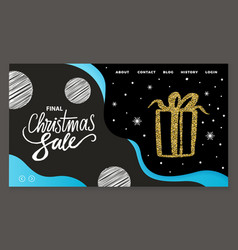 shopping on winter holiday landing page vector image