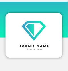 Simple diamond logo design inspiration vector