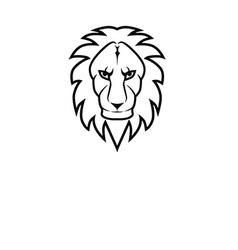 Simple lion icon vector