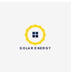 Solar energy template design vector