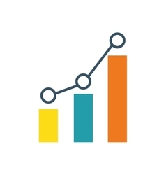 statistic graphic chart vector image