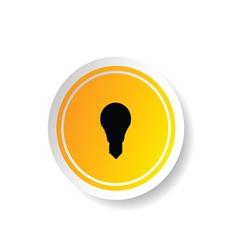 Sticker of lightbulb icon vector