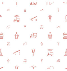 Street icons pattern seamless white background vector