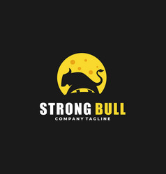 Strong bull design idea vector