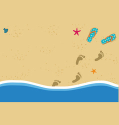 Summer frame with copy space flip flops and foot vector