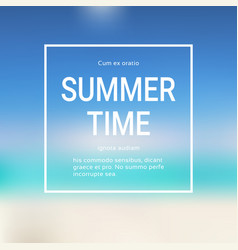 summer time blurred sea bokeh water background vector image