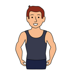 thin man in sports suit vector image