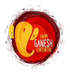 Traditional happy ganesh chaturthi festival vector