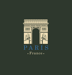 triumphal arch in paris france image vector image