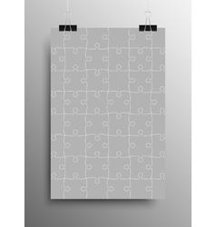 Vertical Poster A4 Puzzle Pieces Grey Puzzles vector