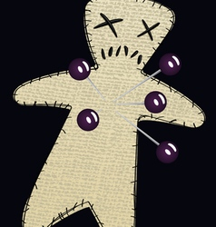 Voodoo doll three vector