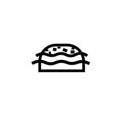 burger icon vector image