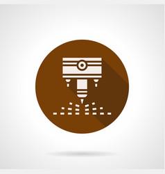 engraving laser machine brown round icon vector image vector image