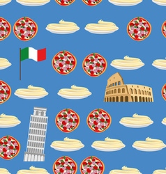 Italy seamless pattern Sightseeing leaning tower vector image