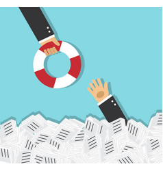 Rescue and support in business vector