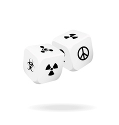 Two white dice of war vector image vector image