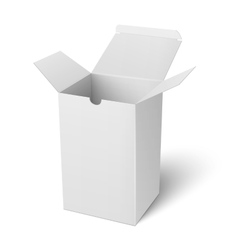 White open vertical paper box template vector image vector image