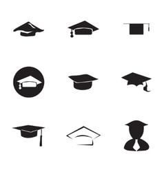 academic icon set vector image